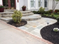 Mortared-flagstone-front-walkway